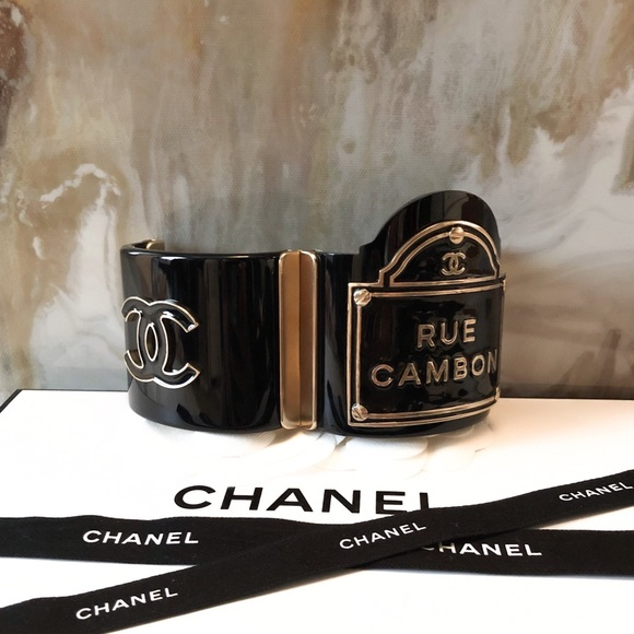 CHANEL Jewelry - SOLD Chanel Rue Cambon Black CC Flagship Bracelet
